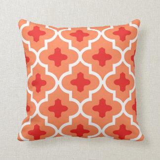 Classic Moroccan Tile, Mandarin Orange Cushion