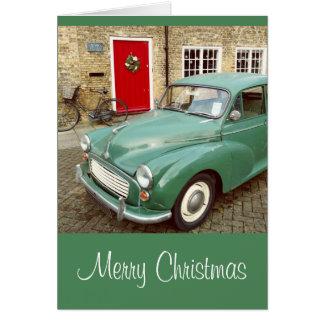 Classic Morris Minor Christmas Card