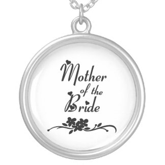 Classic Mother of the Bride Round Pendant Necklace