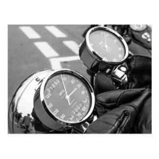 Classic Motorbike Speedometer Postcard