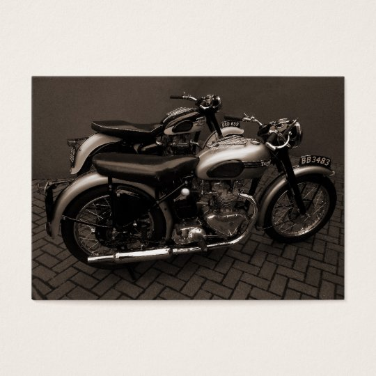 Classic Motorbikes, Mini Photo Business Card