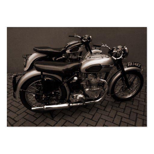 Classic Motorbikes, Mini Photo Pack Of Chubby Business Cards