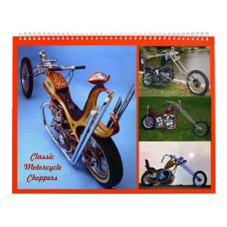 Classic Motorcycle Choppers Calendar