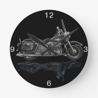 Classic  Motorcycle Round Clock