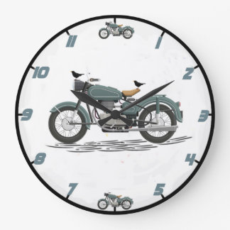 Classic Motorcycle Wall Clock