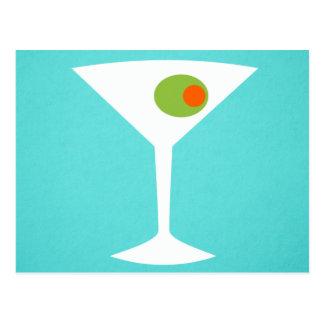 Classic Movie Martini Postcard