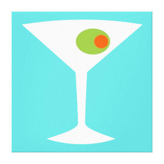 Classic Movie Martini Stretched Canvas (larger)