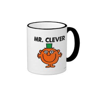 Classic Mr. Clever Logo Ringer Coffee Mug