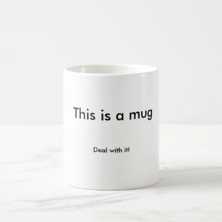 """classic mug """"deal with it"""""""