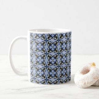 Classic Mug Lovely Blue Multicolor Pattern Design