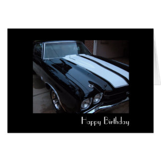 Classic Muscle Birthday Card