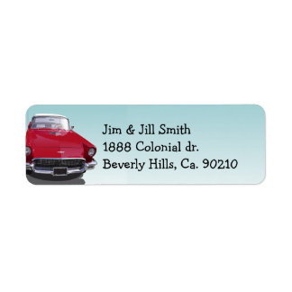Classic Muscle Car Party Return Address Label
