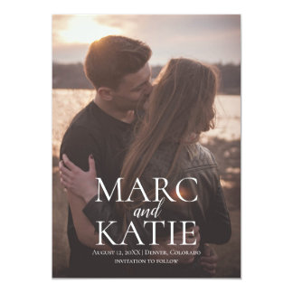 Classic Names Save The Date Card
