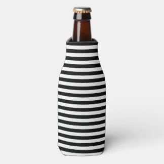 Classic Nautical Stripe Black and White Bottle Cooler