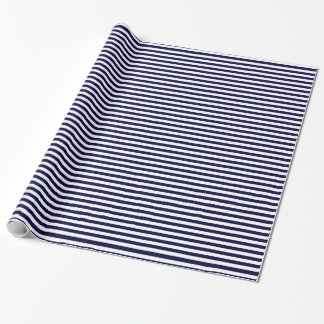 Classic Navy Blue and White Stripe Pattern