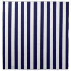 Classic Navy Blue and White Stripe Pattern Napkin