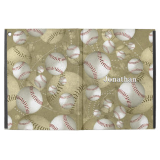 classic new over vintage baseballs dual pattern
