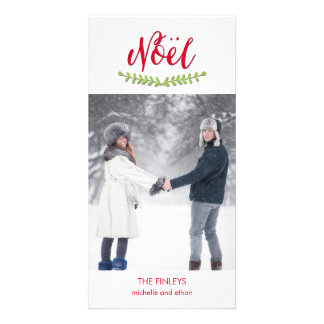 Classic Noel Christmas Holiday Photo Card