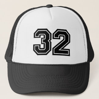 Classic Number 32 Trucker Hat