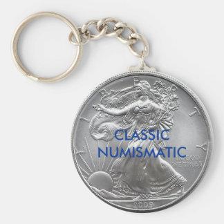 CLASSIC NUMISMATIC BASIC ROUND BUTTON KEY RING