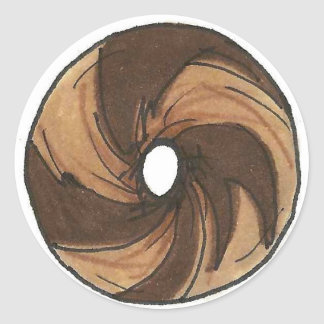 Classic NYC Breakfast Deli Marble Rye Bagel Foodie Classic Round Sticker