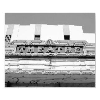 Classic Old Movie Theatre Marquee Photo Print
