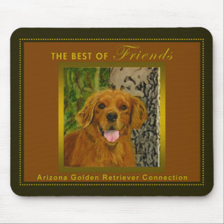 Classic Olive & Rust Golden Retriever Mousepad