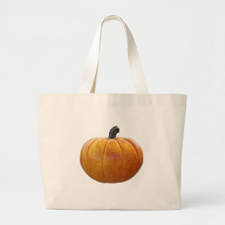 Classic Orange Pumpkin Large Tote Bag