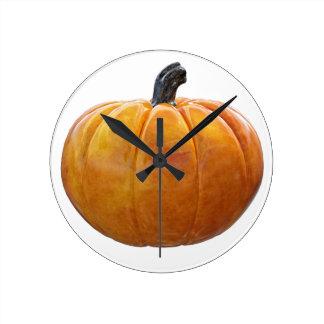 Classic Orange Pumpkin Round Clock