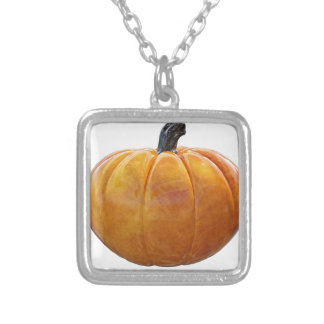 Classic Orange Pumpkin Silver Plated Necklace