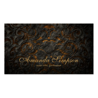 Classic Ornament Gold Fashion Designer Card Pack Of Standard Business Cards