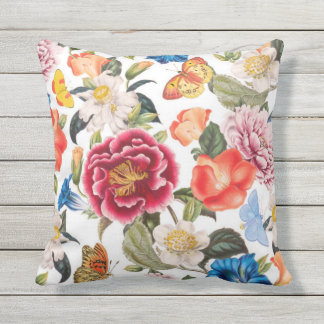 Classic Outdoor Floral Pillow
