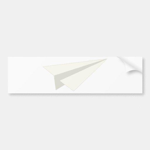 Classic Paper Aeroplane Bumper Stickers