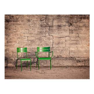 Classic Paris Park Chairs Photo Postcard