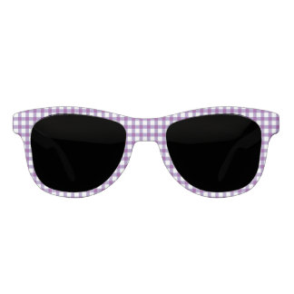 Classic Pastel Purple Gingham Check Pattern Sunglasses