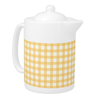 Classic Pastel Yellow Gingham Check Pattern