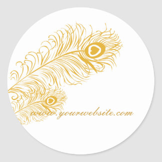 Classic Peacock Feathers Classic Round Sticker