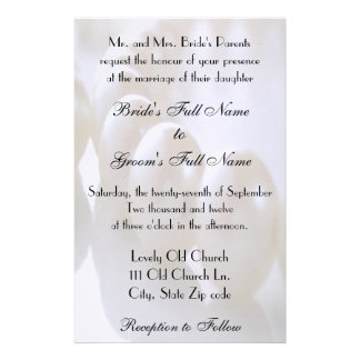 Classic Pearl Necklace Wedding Invitation Personalised Stationery