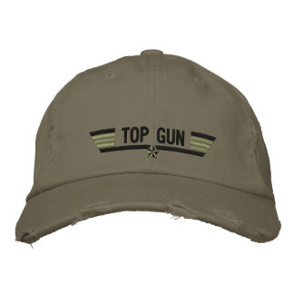 Classic Personalized Top Gun Wings or Your Text Embroidered Hat