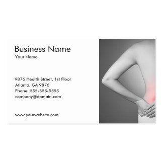 Classic Photo of Woman's Back Health Doctor Pack Of Standard Business Cards