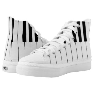 Classic Piano Keyboard | Music Gifts Printed Shoes