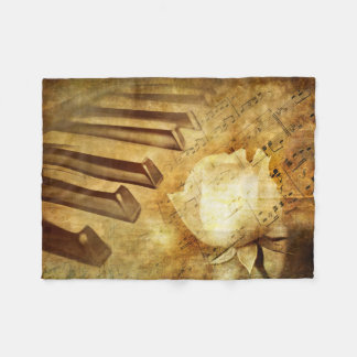 Classic Piano Melody Small Fleece Blanket