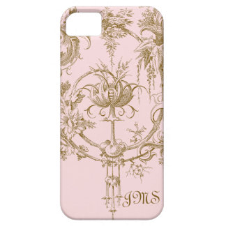 Classic Pink and Brown Toile Pattern Barely There iPhone 5 Case