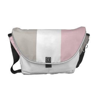 Classic Pink and Tan Color block Messenger Bag