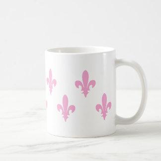 Classic Pink Fleur de lis Mugs