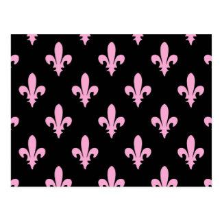 Classic Pink Fleur de lis Postcard
