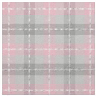 classic pink gray white plaid fabric