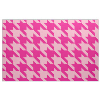 Classic Pink Houndstooth Fabric