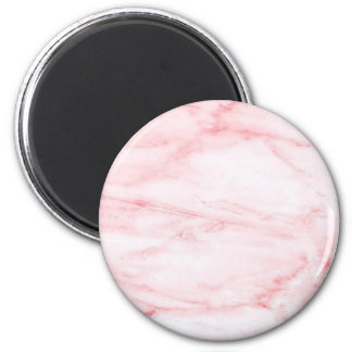 Classic Pink Marble 6 Cm Round Magnet