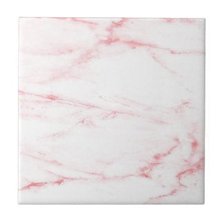 Classic Pink Marble Small Square Tile